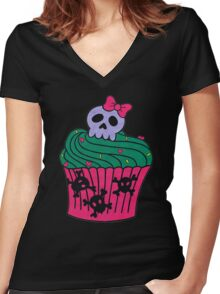 cutie pie cupcake Women's Fitted V-Neck T-Shirt