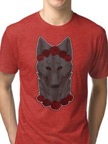 purrty gray wolfie Tri-blend T-Shirt