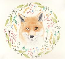 Fox Mandala by Catherine Gabriel