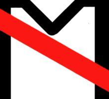 Anti-gay marriage (black) Sticker