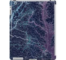 Civil War Maps 1074 Map showing the location of battle fields of Virginia compiled from official war records and maps for the Chesapeake Ohio Railway Co Inverted iPad Case/Skin