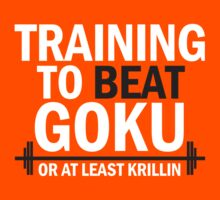 Training to beat Goku - Krillin by Lamamelle