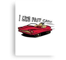 Car car quickly rush almost Fahrzeugl Canvas Print