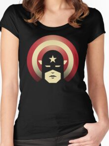 PATRIOTIC DEFENDER Women's Fitted Scoop T-Shirt