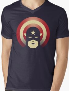PATRIOTIC DEFENDER Mens V-Neck T-Shirt