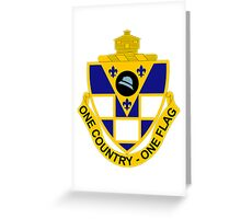 178th Infantry Regiment - One Country - One Flag Greeting Card