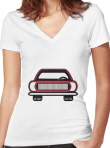 Auto car vehicle Women's Fitted V-Neck T-Shirt