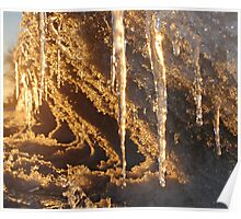 Sunset Icicles Poster