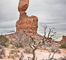 Balanced Rock During Cloudy Day by Spencer Dickson