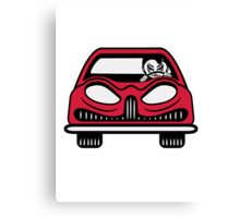 Car carriage evil driver Fahrzeugl Canvas Print