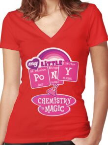 My Little Pony - Chemistry Is Magic Women's Fitted V-Neck T-Shirt