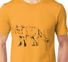 Sly Fox Black Sketchy Outline Unisex T-Shirt