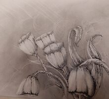 Tulips in Spring by Kerry  Beauchamp