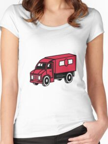 Car toys truck truck truck vehicle Women's Fitted Scoop T-Shirt