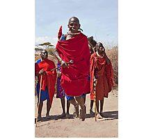 Masai Jumping Dance Photographic Print