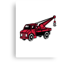 Car toy truck crane tow truck-mounted crane truck  Canvas Print
