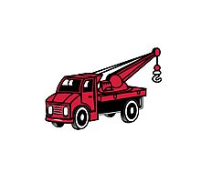 Car toy truck crane tow truck-mounted crane truck  Photographic Print