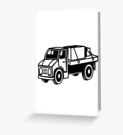 Car toys truck boxes truck truck vehicle Greeting Card