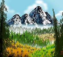 Digital Bob Ross Like by Troy Brown