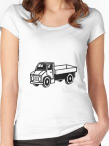 Car toys truck truck truck truck vehicle Women's Fitted Scoop T-Shirt