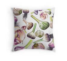 A Grouping of Garlic Throw Pillow