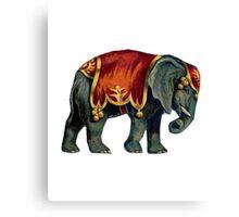 Vintage Circus Elephant Canvas Print