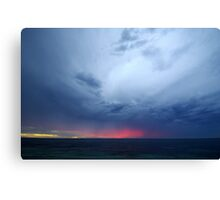T-Rex in the sky Canvas Print