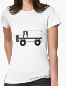 Car toys baby truck vehicle Womens Fitted T-Shirt