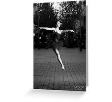 Street Ballerina 2 Greeting Card