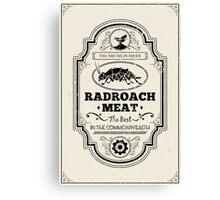 Drumlin Diner Radroach Meat (Black) Canvas Print
