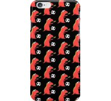 Black Funny Cartoon Dinosaur Football iPhone Case/Skin