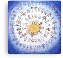 "Puzzle painting ""Round dance"" Canvas Print"