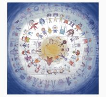 "Puzzle painting ""Round dance"" Kids Tee"