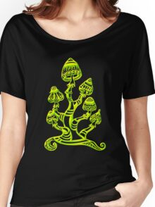 Magic mushrooms, Plants of the Gods, psychedelic, Trance Goa Psy  Women's Relaxed Fit T-Shirt