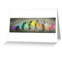 Street Art Rainbow Evolution Greeting Card