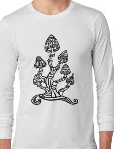 Magic mushrooms, Plants of the Gods, psychedelic, Trance Goa Psy  Long Sleeve T-Shirt