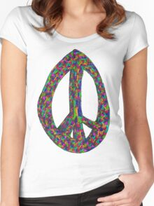 Peacefully Shrooming 4 Women's Fitted Scoop T-Shirt