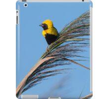 Golden Bishop bird iPad Case/Skin