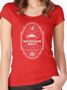 Drumlin Diner Radroach Meat Women's Fitted Scoop T-Shirt