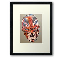 Alan Davis' Captain Britain, colour Framed Print