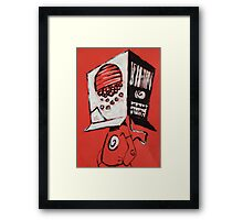 Cereal Box Boy Framed Print
