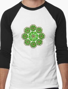 Peyote Cactus, psychedelic, Plant of the gods Men's Baseball ¾ T-Shirt