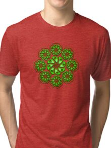 Peyote Cactus, psychedelic, Plant of the gods Tri-blend T-Shirt