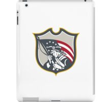 Patriot Holding American Flag Shield Retro iPad Case/Skin