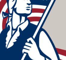 American Patriot Holding USA Flag Shield Sticker