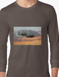 Harriers At Sunset Long Sleeve T-Shirt