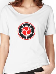 Mitsu Tomoe - Lotus -  Japan - Trinity Symbol Women's Relaxed Fit T-Shirt