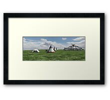 Native American Village Framed Print