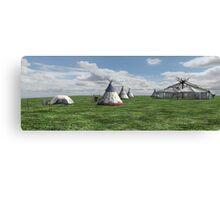 Native American Village Canvas Print