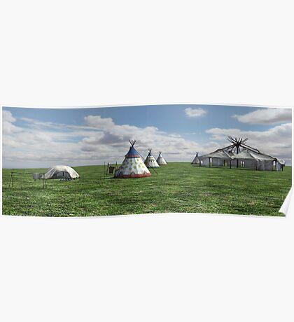 Native American Village Poster